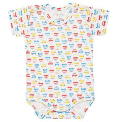 Imagem 2 do produto Kits 2 Bodies curtos para bebe em malha Carrinhos - Tilly Baby - TB16813 BODY MC MASC 2 PÇS CARRINHOS-M