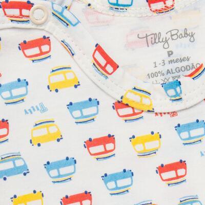 Imagem 3 do produto Kits 2 Bodies curtos para bebe em malha Carrinhos - Tilly Baby - TB16813 BODY MC MASC 2 PÇS CARRINHOS-M