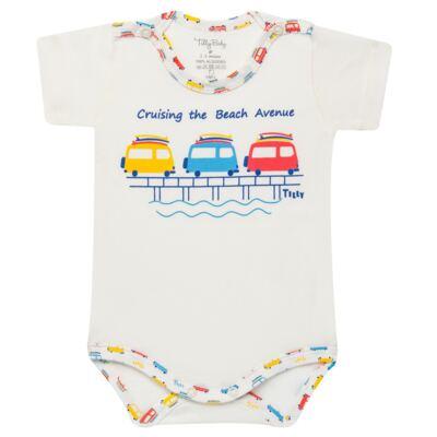 Imagem 4 do produto Kits 2 Bodies curtos para bebe em malha Carrinhos - Tilly Baby - TB16813 BODY MC MASC 2 PÇS CARRINHOS-M