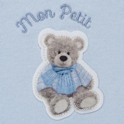 Imagem 3 do produto Regata c/ Cobre fralda para bebe em algodão egípcio Chevalier - Petit - 17944167 CONJ REGATA C/ COBRE FRALDA SUED/VISCO URSO -P