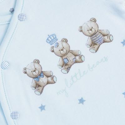 """Imagem 2 do produto Macacão longo c/ abertura """"S"""" para bebe em algodão egípcio Prince Bear - Mini & Classic - 2004656 MACACAO S C/ PE REVERSIVEL SUEDINE URSO-M"""