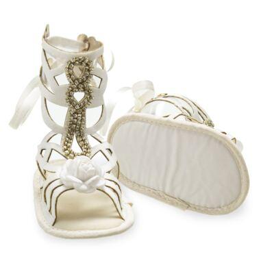 Imagem 3 do produto Sandália Gladiadora para bebe Flor & Strass - Roana - GLA00003031 SAPATILHA GLADIADORA MARFIM-RN
