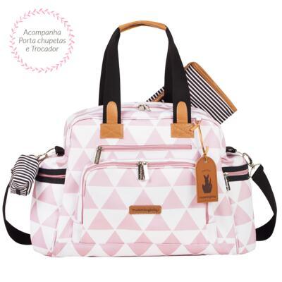 Imagem 3 do produto Mala maternidade Vintage + Bolsa Everyday + Frasqueira Emy Manhattan Rosa - Masterbag