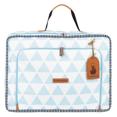 Imagem 2 do produto Mala maternidade Vintage + Bolsa 4 em 1 Sofia + Frasqueira térmica Vicky + Mochila Noah Manhattan Azul - Masterbag