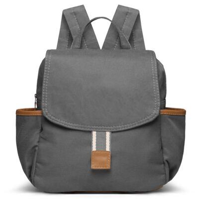 Imagem 3 do produto Bolsa Passeio para bebe + Mochila Adventure em sarja Chumbo - Classic for Baby Bags