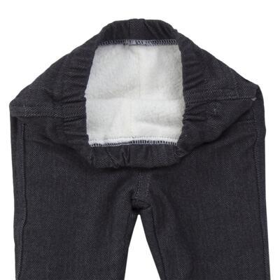 Imagem 5 do produto Calça para bebe forrada em fleece & pelúcia Dark Denim - Mini & Classic - CLCF4169 CALÇA C/ FORRO FLEECE/ MAL PUG-1