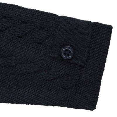 Imagem 3 do produto Casaquinho para bebe em tricot trançado Marinho - Mini Sailor - 75464262 CASAQUINHO C/GOLA TRANÇADO TRICOT MARINHO-6-9