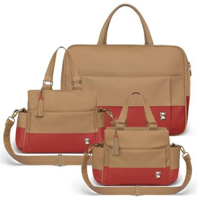 Imagem 1 do produto Mala Maternidade para bebe + Bolsa Genebra + Frasqueira Térmica Zurique Due Colore Coral - Classic for Baby Bags
