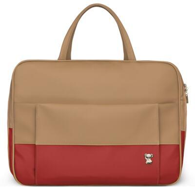 Imagem 2 do produto Mala Maternidade para bebe + Bolsa Genebra + Frasqueira Térmica Zurique Due Colore Coral - Classic for Baby Bags
