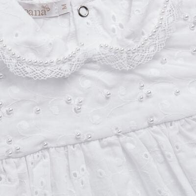 Imagem 2 do produto Macacão curto para bebe em laise Pérolas Deluxe - Roana - PIML0927001 PIMPAO LUXO BRANCO -P