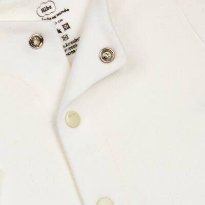 Imagem 2 do produto Casaco para bebe em algodão egípcio Marfim - Bibe - 10M03-115 CS CASACO BASICO CRISTAL MARFIM-G