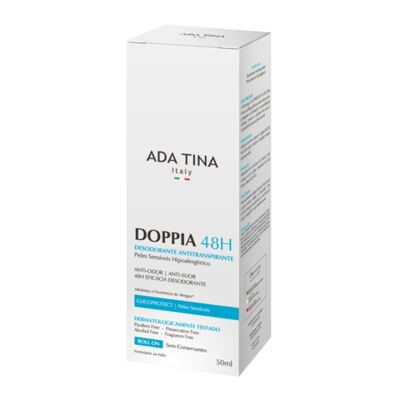 Imagem 2 do produto Ada Tina Doppia 48H Antitranspirante Hipoalergênico - Desodorante Antitranspirante Roll-On - 50ml