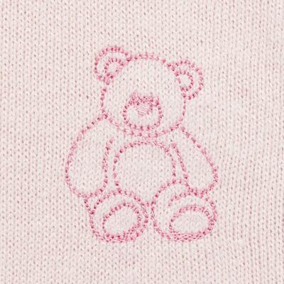 Imagem 3 do produto Macacão c/ golinha para bebe em tricot Bellamy - Petit - 21864279 MACACAO C/ GOLA TRICOT ROSA BEBE-P