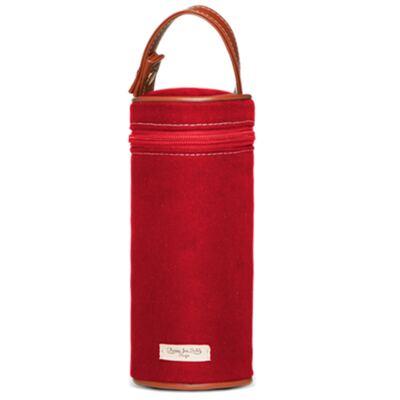 Imagem 7 do produto Bolsa Passeio p/ bebe + Bolsa Melbourne + Térmica Brisbane + Necessaire + Trocador + Porta Mamadeira sarja Adventure Vermelha - Classic for Baby Bags