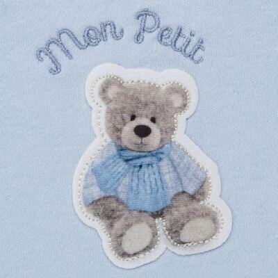 Imagem 3 do produto Regata c/ Cobre fralda para bebe em algodão egípcio Chevalier - Petit - 17944167 CONJ REGATA C/ COBRE FRALDA SUED/VISCO URSO -G