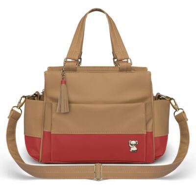 Imagem 4 do produto Mala Maternidade para bebe + Bolsa Genebra + Frasqueira Térmica Zurique  + Necessaire + Trocador Portátil Due Colore Coral - Classic for Baby Bags