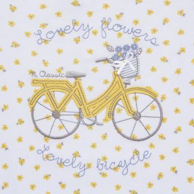 Imagem 2 do produto Macacão curto para bebe em malha Daisy - Mini & Classic - 3060657 MACACAO M/C FEM MALHA FLORAL AMARELO-M