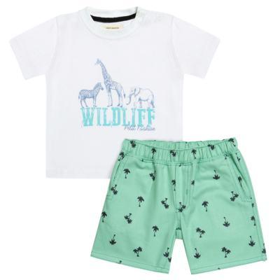 Imagem 1 do produto Camiseta com Bermuda em sarja Safari - Petit
