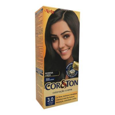 Coloração Creme Cor & Ton Niely Castanho Escuro 3.0