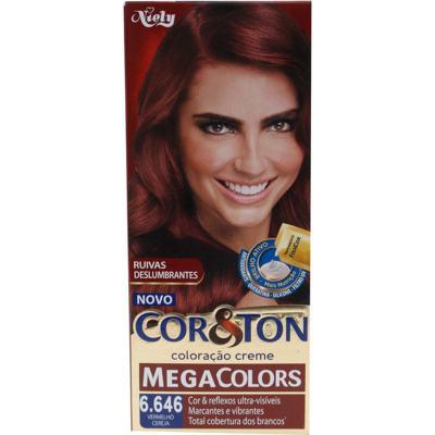 Imagem 1 do produto Coloração Cor & Ton Mega Colors 6.646 Vermelho Ceraja