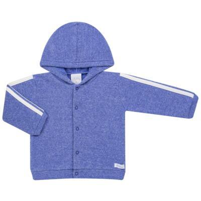 Imagem 2 do produto Casaco c/ capuz e Calça para bebe em soft Azul - Tilly Baby - TB0172020.09 CONJ. CASACO COM CALÇA SOFT AZUL-3