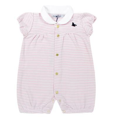 Imagem 1 do produto Macacão curto para bebe em cotton Lolita - Mini Sailor - 21984441 MACACAO M/C C/RECORTE RIB/COTTON ROSA BEBE-NB