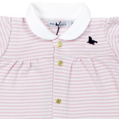 Imagem 2 do produto Macacão curto para bebe em cotton Lolita - Mini Sailor - 21984441 MACACAO M/C C/RECORTE RIB/COTTON ROSA BEBE-NB
