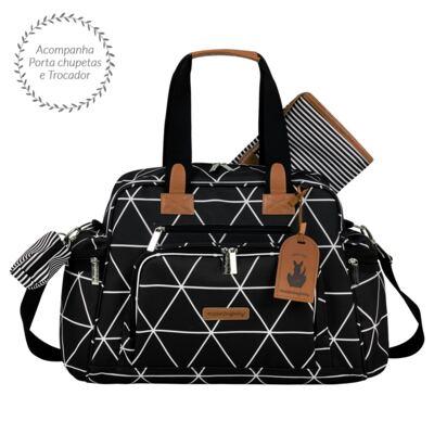 Imagem 3 do produto Mala Maternidade com Rodízio + Bolsa Everyday + Frasqueira térmica Emy Manhattan Preta - Masterbag
