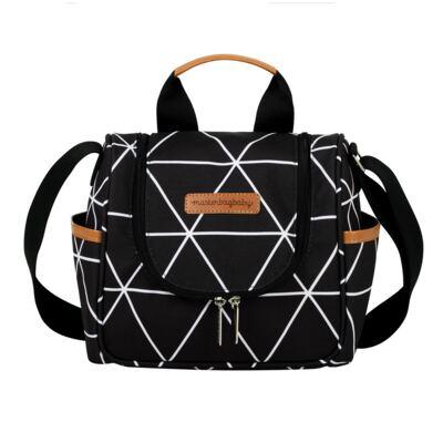 Imagem 4 do produto Mala Maternidade com Rodízio + Bolsa Everyday + Frasqueira térmica Emy Manhattan Preta - Masterbag