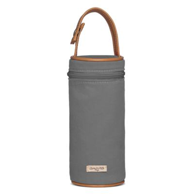 Imagem 3 do produto Bolsa Maternidade para bebe Albany + Porta Mamadeira  em sarja Adventure Chumbo - Classic for Baby Bags