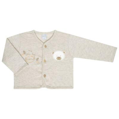 Imagem 4 do produto Macacão com Casaco para bebe em algodão egípcio c/ jato de cerâmica e filtro solar fps 50 Nature Little Friend Bear - Mini & Kids - CJMC0001.18 CONJ.MACACÃO C/CASACO METELASSÊ-SUEDINE-P