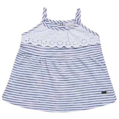 Imagem 2 do produto Vestido com Calcinha para bebe em malha Navy - Tilly Baby - TB168201 CONJ FEMININO VESTIDO C/ CALCINHA LISTRADO-P