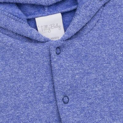 Imagem 3 do produto Casaco c/ capuz e Calça para bebe em soft Azul - Tilly Baby - TB0172020.09 CONJ. CASACO COM CALÇA SOFT AZUL-2