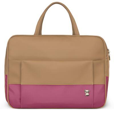 Imagem 2 do produto Mala Maternidade para bebe + Bolsa Genebra + Frasqueira Térmica Zurique  + Necessaire + Trocador Portátil Due Colore Pink - Classic for Baby Bags