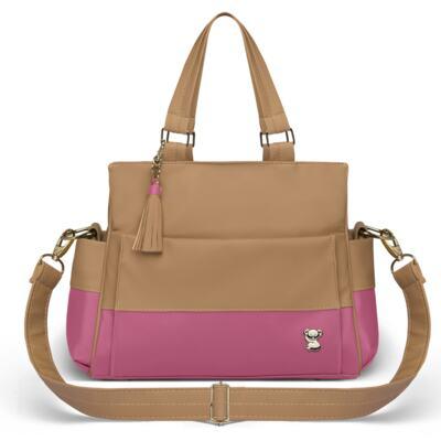 Imagem 3 do produto Mala Maternidade para bebe + Bolsa Genebra + Frasqueira Térmica Zurique  + Necessaire + Trocador Portátil Due Colore Pink - Classic for Baby Bags