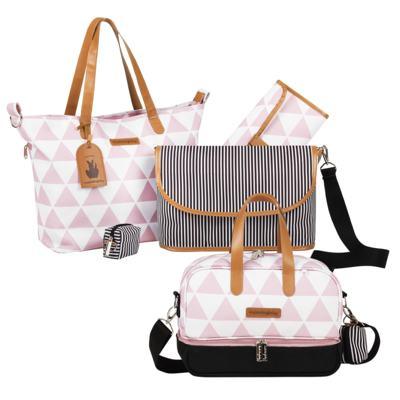 Imagem 1 do produto Bolsa 4 em 1 Sofia + Frasqueira térmica Vicky Manhattan Rosa - Masterbag