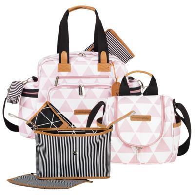 Imagem 1 do produto Bolsa Everyday + Frasqueira térmica Emy +  Frasqueira Organizadora Manhattan Rosa - Masterbag