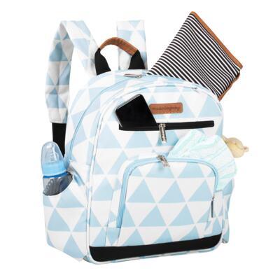Imagem 6 do produto Mala maternidade Vintage + Bolsa 4 em 1 Sofia + Frasqueira térmica Vicky + Mochila Noah + Necessaire Manhattan Azul - Masterbag