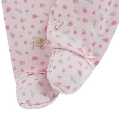 Imagem 4 do produto Macacão c/ Bolero para bebe em algodão egípcio Florale - Mini & Classic - 21664172 MACACAO ML  CASACO SUEDINE/TR FLORAL-M
