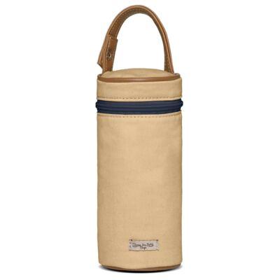 Imagem 5 do produto Bolsa Passeio para bebe + Bolsa Albany + Térmica Gold Coast + Trocador + Porta Mamadeira em sarja Adventure Caramelo - Classic for Baby Bags
