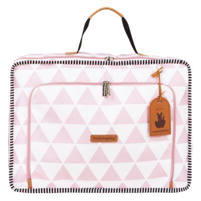 Imagem 2 do produto Mala maternidade Vintage + Bolsa Everyday + Frasqueira térmica Emy + Mochila Noah + Necessaire Manhattan Rosa - Masterbag