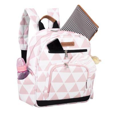 Imagem 5 do produto Mala maternidade Vintage + Bolsa Everyday + Frasqueira térmica Emy + Mochila Noah + Necessaire Manhattan Rosa - Masterbag