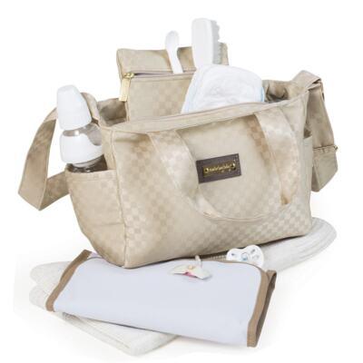 Imagem 5 do produto Bolsa Anne + Frasqueira Alice para bebe Paris Ouro - Masterbag