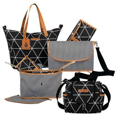 Imagem 1 do produto Bolsa 4 em 1 Sofia + Frasqueira térmica Emy + Frasqueira Organizadora Manhattan Preto - Masterbag