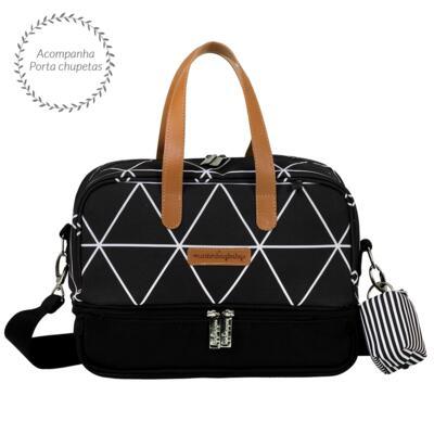 Imagem 3 do produto Bolsa Everyday + Frasqueira térmica Vicky + Frasqueira Organizadora Manhattan Preto - Masterbag