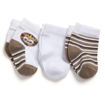 Imagem 1 do produto Kit com 3 meias Soquete recém-nascido Leãozinho - Puket - PK6963D-B Meia Tripack RN Variante 1 Branco Gatinho-5/8