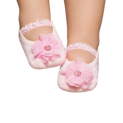 Imagem 1 do produto Meia Sapatilha para bebe Pink Flower - Puket