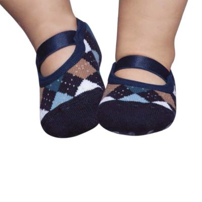 Imagem 1 do produto Meia Sapatilha para bebe marinho Argyle - Puket