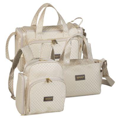 Imagem 1 do produto Bolsa Anne + Frasqueira Alice + Mochila maternidade Paris Ouro - Masterbag