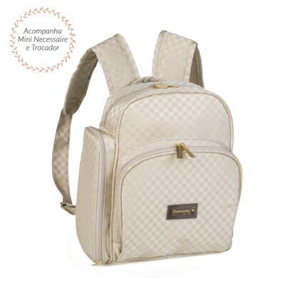 Imagem 6 do produto Bolsa Anne + Frasqueira Alice + Mochila maternidade Paris Ouro - Masterbag